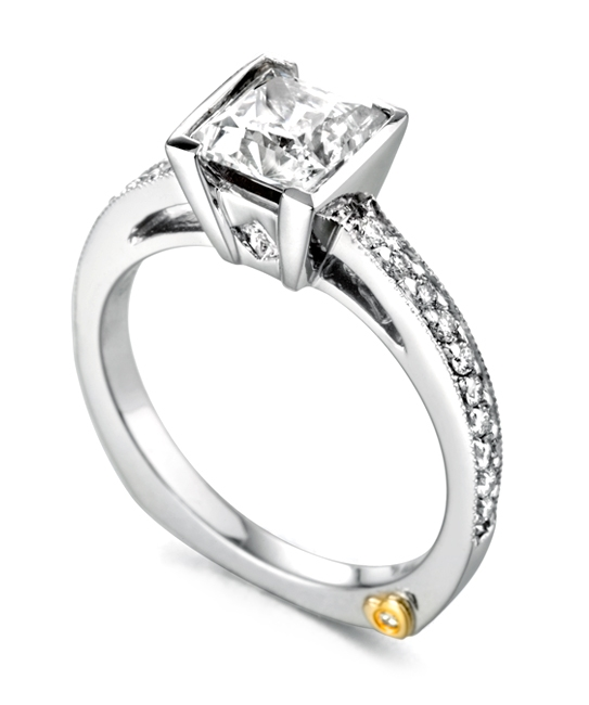 Inspiration by Mark Schneider - The Inspiration by Mark Schneider - Diamond Engagement Ring with .31ctw White Diamonds in 14k White Gold.  **Center Stone Sold Separately**