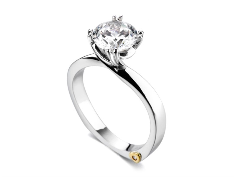 Beloved by Mark Schneider - Beloved by Mark Schneider - The Beloved engagement ring contains 1 diamonds, totaling 0.005 ctw. Center stone sold separately, not included in price.