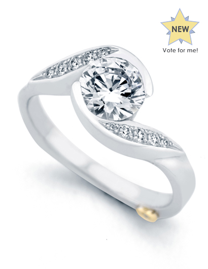 Whirlwind by Mark Schneider - Whirlwind by Mark Schneider - The Whirlwind engagement ring contains 11 diamonds, totaling 0.085ctw. Center stone sold separately, not included in price.