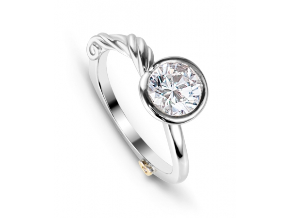 Grace by Mark Schneider - Grace by Mark Schneider - The Grace engagement ring contains 1 diamond, totaling 0.005ctw. Center stone sold separately, not included in price.