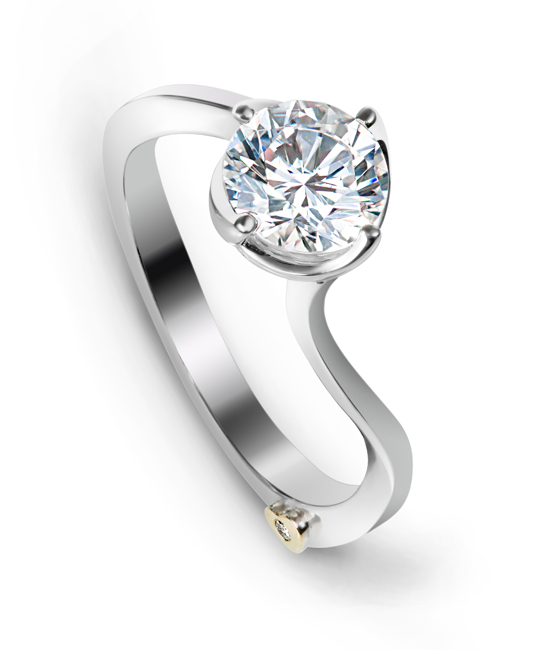 Posy by Mark Schneider - Posy by Mark Schneider - The Posy engagement ring contains 1 diamond, totaling 0.005ctw. Center stone sold separately, not included in price.