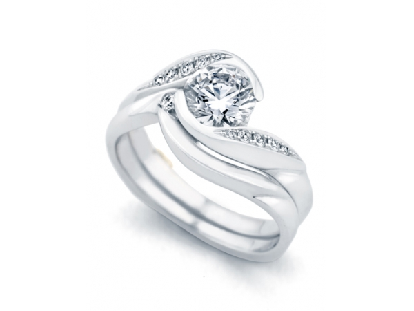 Whirlwind Wedding Band by Mark Schneider - Whirlwind Band by Mark Schneider - 14kt White Gold.  **BAND ONLY**