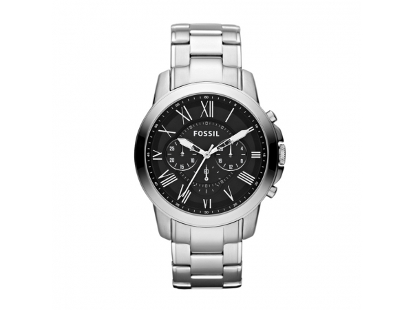 Fossil - Men's - Grant - Grant Stainless Steel Watch  Inspired by the simplicity of vintage timepieces, our Grant watch has a classic appeal. We love the polished stainless steel and roman numeral indexes.