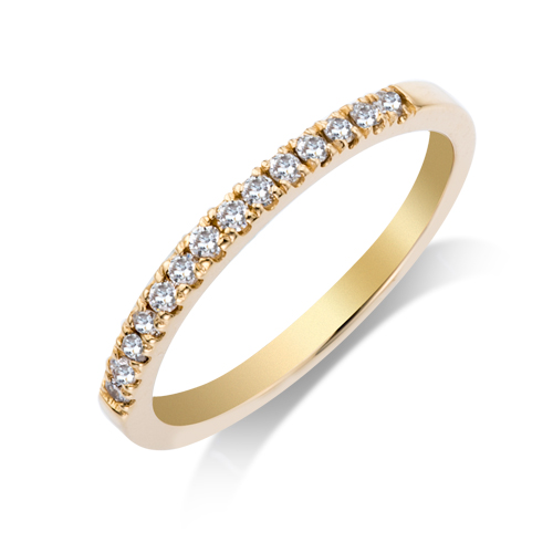Wedding Band - 14 Karat Yellow Gold Shared Prong Anniversary Ring With 0.21Tw Round G/H SI Diamonds