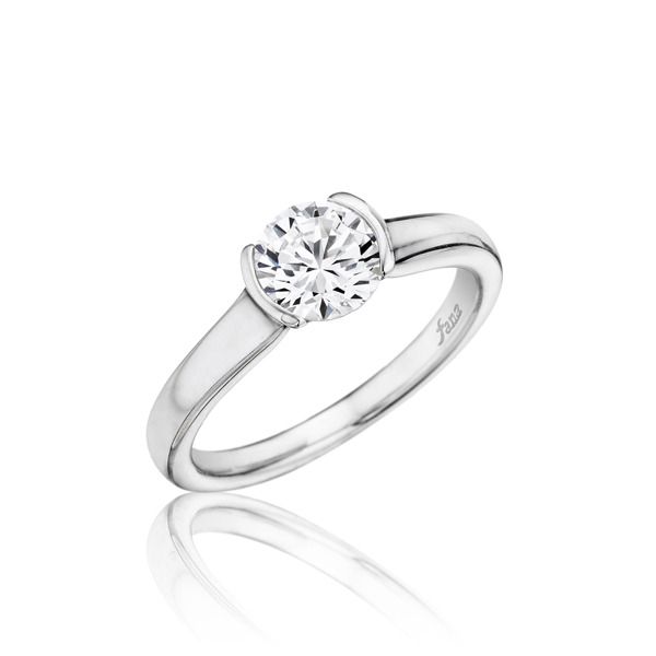 Engagement Rings - 14k White Gold Semi-Mount Ring. Center Diamond Not Included. Please select a diamond from the