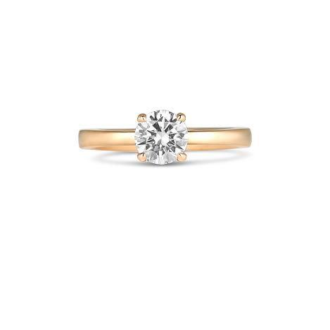 Engagement Rings - 14k Rose Gold Semi-Mount Ring. Center Diamond Not Included. Please select a diamond from the