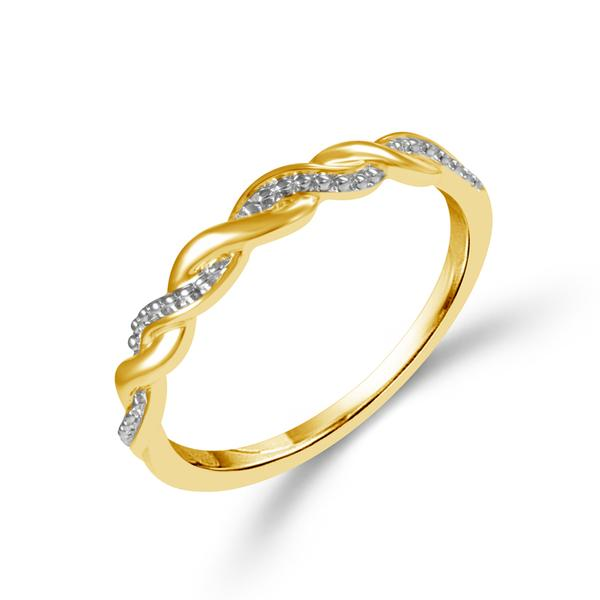 Fashion Ring - 10 Karat Two-Tone Gold Stacking Ring