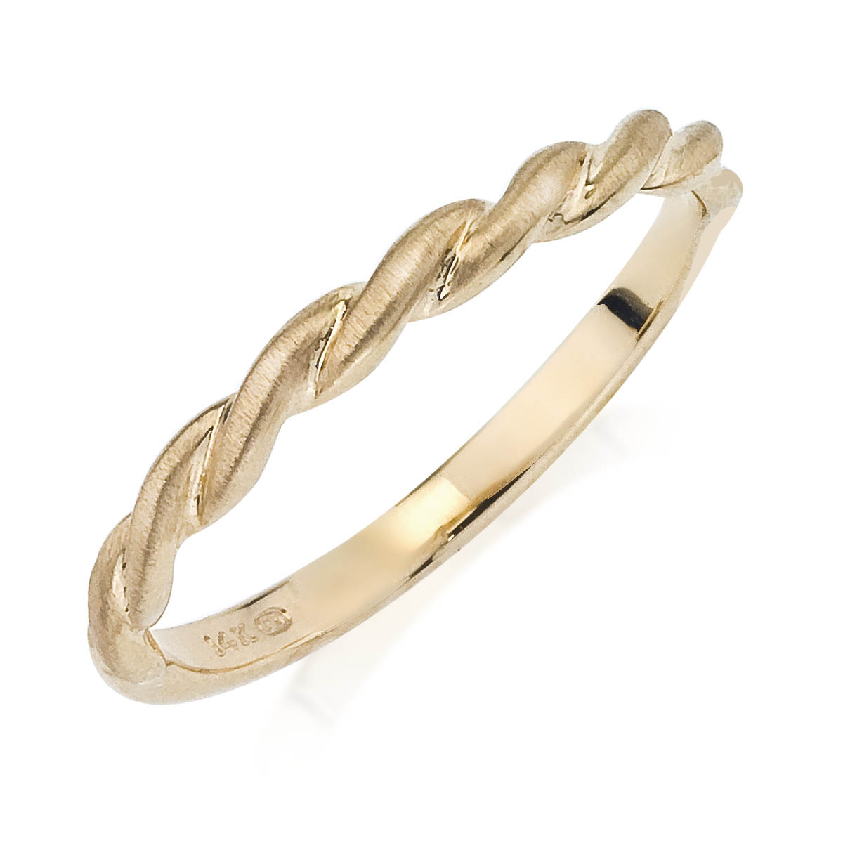 Gold Wedding Band - 14 Karat Yellow Gold Wedding Band