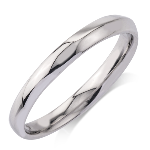 Gold Wedding Band - 10 Karat White Gold Band