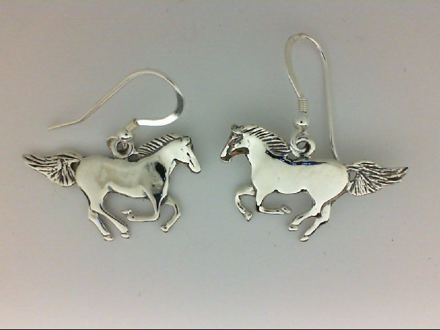 Silver Earrings - Sterling Silver Dangle Horse Earrings