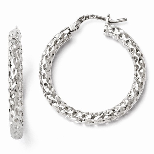 Silver Earrings - Sterling Silver Hoop Earrings