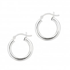 Silver Earrings - Sterling Silver Tube Hoop Earrings