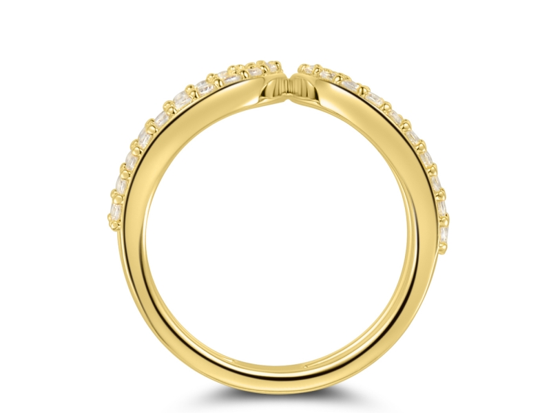 Diamond Fashion - 14k Yellow Gold Loop Ring - image #2