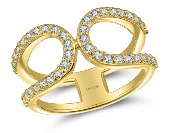 Diamond Fashion - 14k Yellow Gold Loop Ring