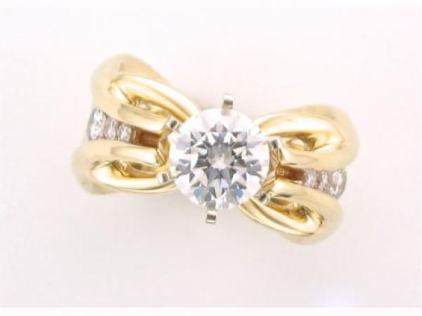 Diamond Fashion, Wedding and Engagement Rings - 14K yellow gold ring with .21 carat total weight of round brilliant diamonds with VS-SI clarity and G-H color. Price does not include center stone