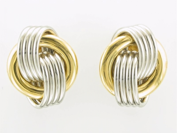 Earrings - Platinum and 18K yellow gold estate earrings