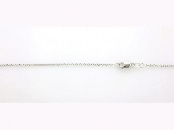 Chains for necklaces, bracelets and anklets - 14K white gold cable link chain with lobster clasp