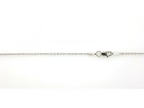 Chains for necklaces, bracelets and anklets - 14K white gold 18 inch forsantina chain with lobster clasp