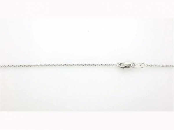 Chains for necklaces, bracelets and anklets - 14K white gold 18 inch cable link chain