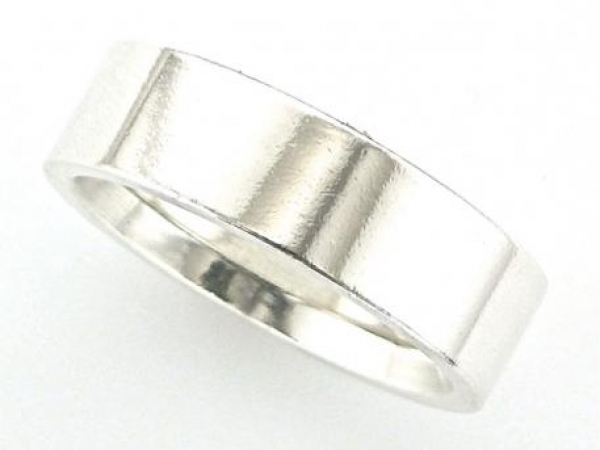 Ring - Sterling silver 7mm comfort fit flat band