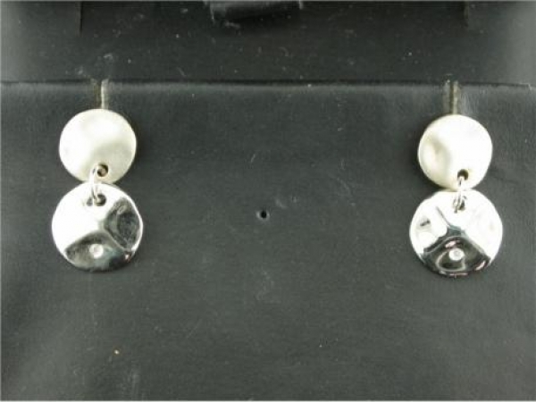 Earrings - Silver dangles with Diamond