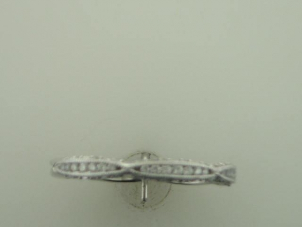 Wedding Band - 18KT WG Tacori  Wedding Band .23CT TW In Diamonds 1/2 Way Serial 365282