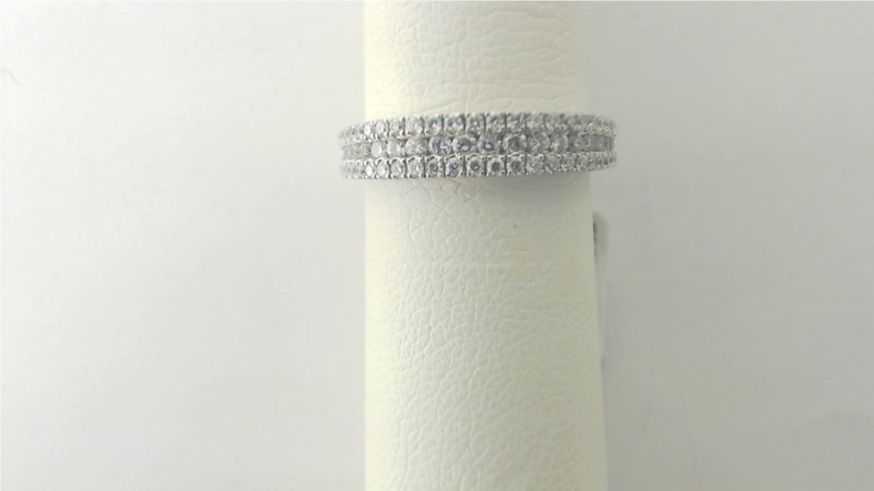 Wedding Band - 14KT White gold diamond band 67 rd=.51 CT TW