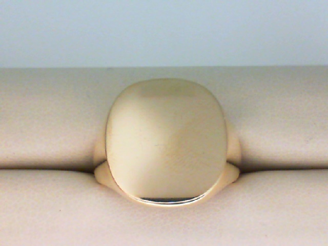 Fashion Ring - Mans 14K Gold Cushion 19mm X 17mm Heavy Signet Ring Size 11