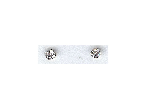 Diamond Stud Earrings - 14K GOLD 4-PRONG DIAMOND STUD EARRINGS WITH THREADED POSTS / STAYS. 1 CT TOTAL WEIGHT.