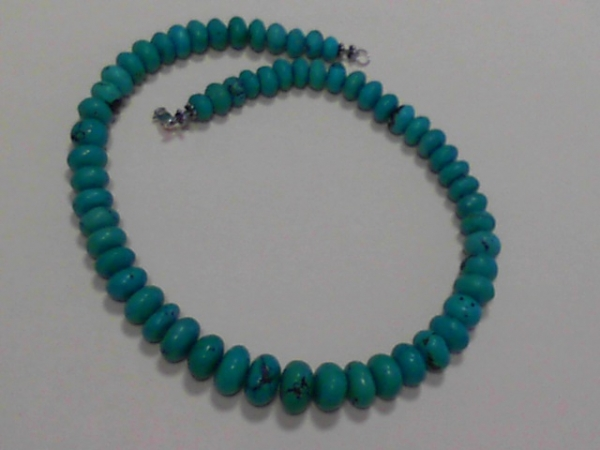 Necklace - Vintage strand graduated Turquoise beads.