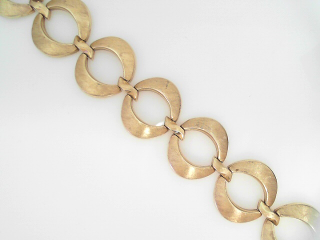 Bracelet - 14K Y Open Circles Lady's Bracelet With Invisible Box/Tongue Clasp And 2 Fold-Over Safeties, 23Mm Wide.