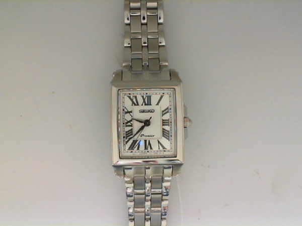 Watch - Seiko Ladies Premier Stainless Steel Tank Style Watch