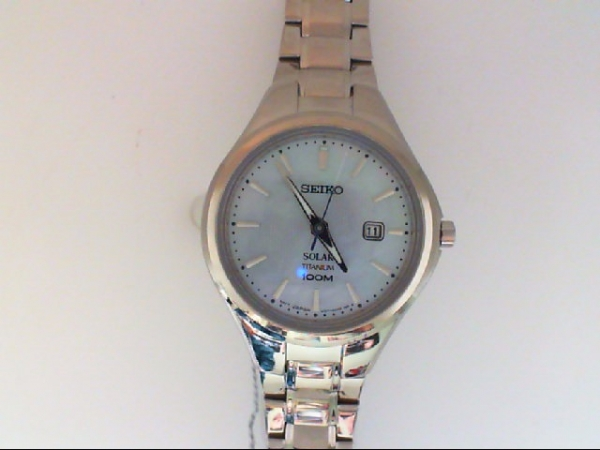 Watch - LW SEIKO SOLAR WITH TITANIUM CASE AND BAND, WHITE DATE DIAL