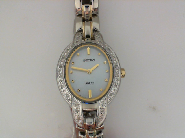 Watch - Seiko Ladies Tressia Solar Watch Mother of Pearl and 24 Diamonds