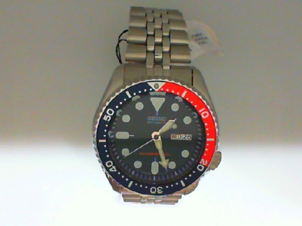 Watch - Seiko Automatic Gents Stainless Stee Blue Dila Red/Blue Bezel Day/Date Divers Watch
