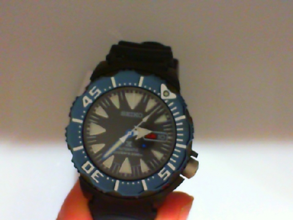 Watch - Seiko Gents Prospex Automatic Black Ion Finish Blue Bezel Polyurethane Strap Watch