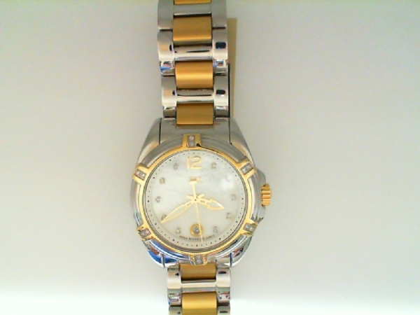 Watch - Esq Ladies Torrent Two-Tone Stainless Steel Mop Dial Diamond Dial Markers Date