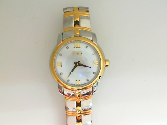 Watch - ESQ Ladies Muse Two-Tone Stainless Steel MOP Dial Diamond Dial Markers Watch
