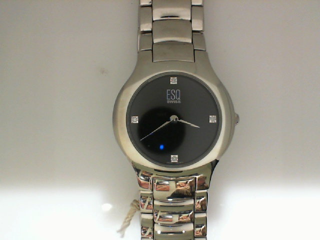 Watch - Stainless Mans Verve Esq Watch Black Dial Diamond Dial Markers
