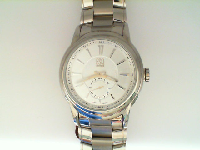 Watch - ESQ Gents Quest Stainless Steel Round Silver Tone Dial Sub 2Nd Hand Dash Markers Watch