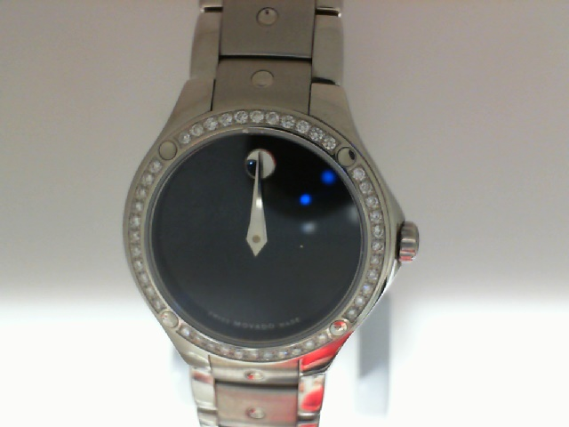 Watch - Ladies S.E. Movado Museum Dial Watch With Dia Bezel