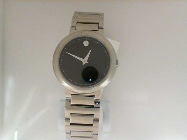 Watch - Movado Ladies Concerto Stainless Steel Round Black Museum Dial With Dot Markers Watch
