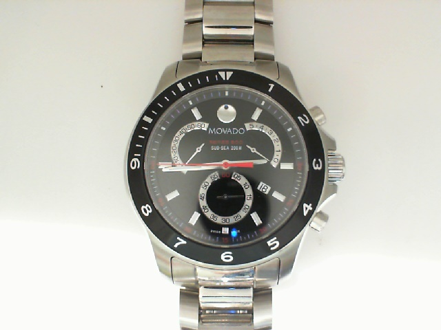 Watch - Movado Gents Stainless Steel SE800 Black Dial Red Accents Watch