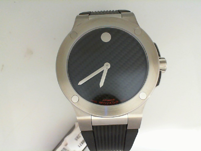 Watch - Movado SE Extreme Automatic Flat Dot Silver Soleil Horwitt Museum Dial Exhbition Back Watch