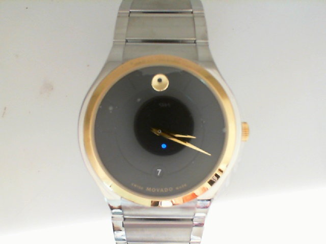 Watch - Movado Gents Two Tone Stainless Steel Quadro Tone On Tone Museum Dial Dash Markers Date Exclusive Watch