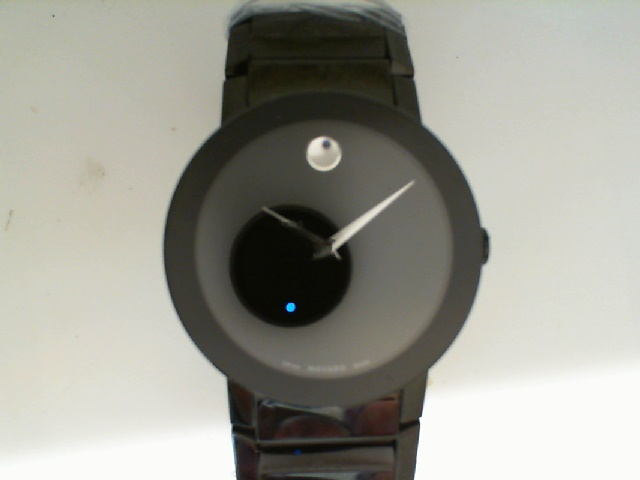 Watch - Movado Gents Sapphire Museum Dial All Black Watch