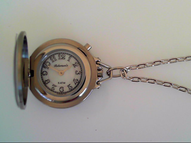 Watch - Robertson's Satin Finish Stainless Covered Pendant Watch And Chain