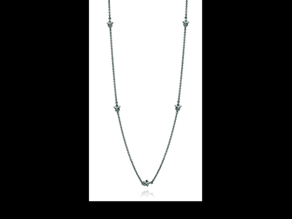 Pandora Necklaces - Necklace Stella Oxidized Sterling Silver w/14K