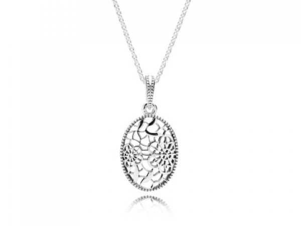 Pandora Necklaces - Necklace Floral Daisy Lace with openwork design