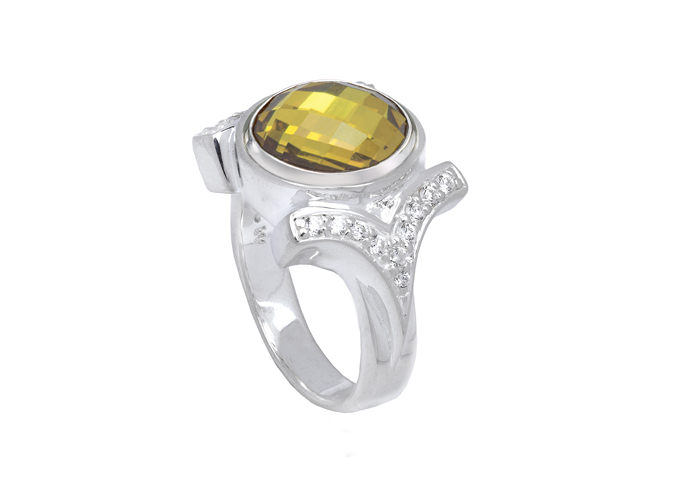 JewelPop - Cz Shank Ring